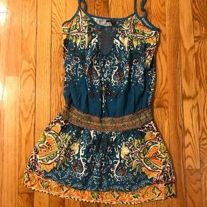 Lucky Brand funky design tunic dress
